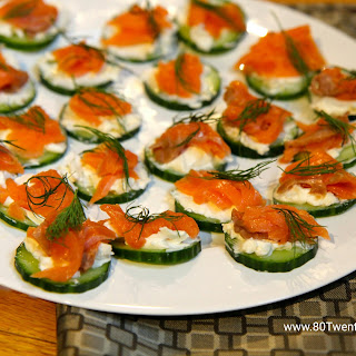 Smoked Salmon Cucumber Bites - Low Carb and Gluten-Free!.