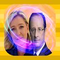 Hollande et Le Pen - fake call icon