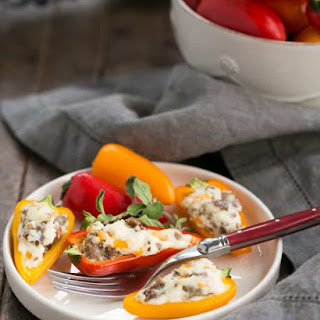 Cream Cheese Stuffed Mini Peppers with Sausage Recipe