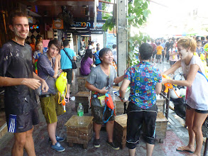 Photo: Naše parta v čele s Tai (uprostřed), kterou známe z první návštěvy Bangkoku.