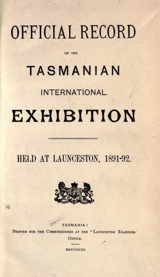 Tasmanian Exhibition, staged in Launceston