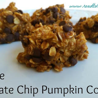 No Bake Chocolate Chip Pumpkin Cookies.