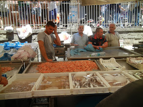 Photo: Shrimp and some other stuff, fish market, Catania
