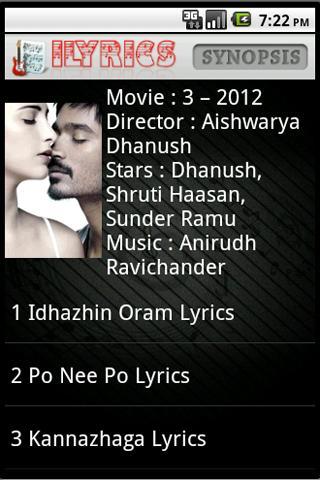 Tamil songs 3 movie.