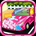 Convertible car wash icon