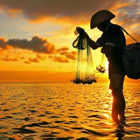 Morning Preparation by Alit  Apriyana - Landscapes Sunsets & Sunrises