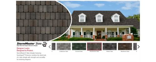 types of atlas shingles like the stormmaster slate are available in many colors