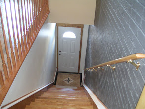 Photo: Looking down entrance foyer