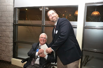 Photo: President-elect Steve Moons thanking David Underwood, Underwood & Associates (ASHRAE DL)