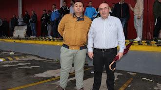 Pérez y Bonilla, en la concentración de agricultores.