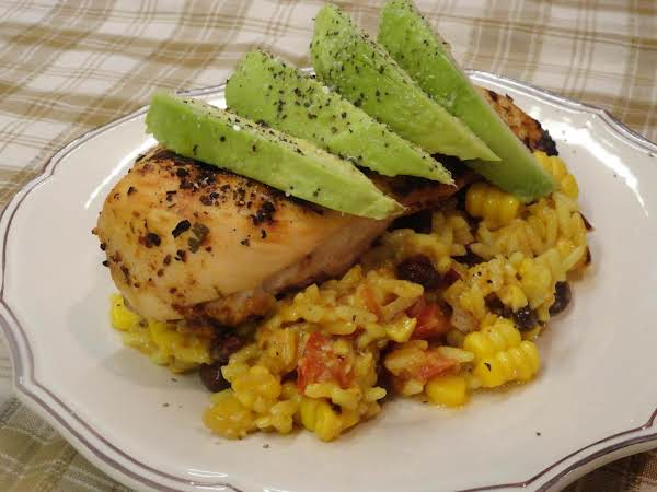 Cilantro Lime Grilled Chicken Breast With Southwest Yellow Rice Salad