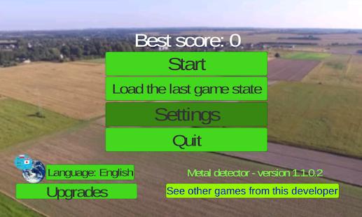 Metal detector game - náhled