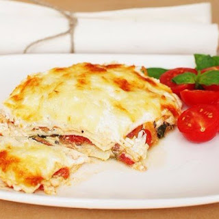 Three Cheese Lasagna With Spinach