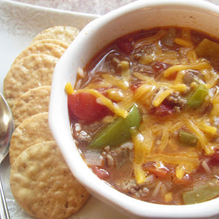 Slow Cooked Stuffed Pepper Soup.