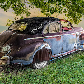 color me sunset by Dougetta Nuneviller - Transportation Automobiles ( clunker, car, classic car, junker, vintage, automobile, hotrod, transportation, classic )
