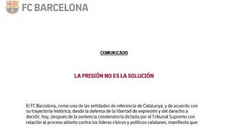 Comunicado del FC Barcelona.