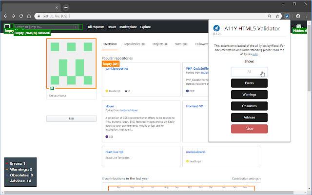 A11Y HTML5 Validator
