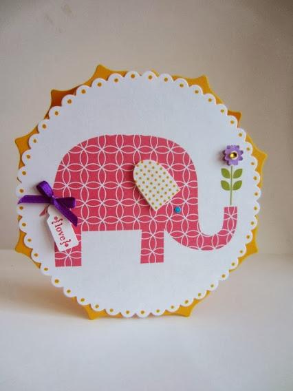 DIY Elephant Birthday Card by Paper Seedlings