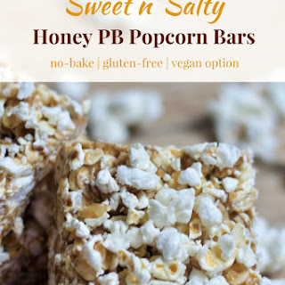 No Bake Sweet n' Salty Popcorn Bars.