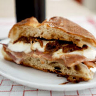 Mozzarella, Prosciutto, and Fig Jam Panino.