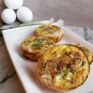 Mini Bacon, Caramelized Onion Quiche