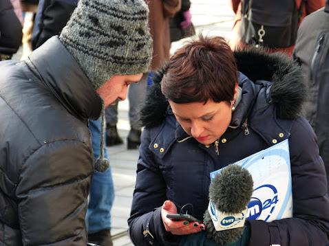 TWP und BlickPunkt waren in bester Gesellschaft polnischer Journalisten - so u.a. von TVP24. Foto: ASC