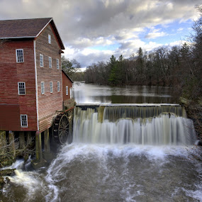The Dells Mill and Museum by Peter Stratmoen - Buildings & Architecture Decaying & Abandoned ( mill, wisconsin, waterfalls, dells, decayed, nikon,  )