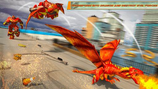 Flying Dragon Robot Car - Robot Transforming Games 2.5 screenshots 9