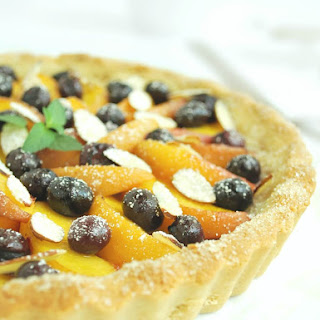 Gluten Free Blueberry Peach Tart