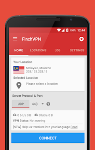 Free & Premium VPN - FinchVPN Screenshot