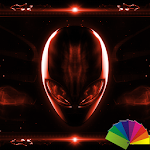 Alien Red Xperien Theme Icon