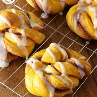 Pumpkin Cinnamon Roll Twist Knots