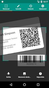 Skener QR a čárových kódů (česky) - náhled