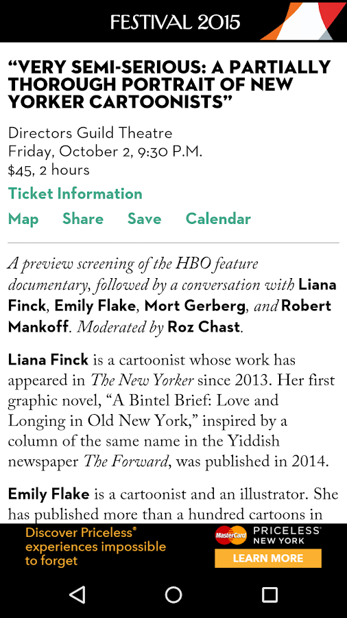 The New Yorker Festival 2015- screenshot