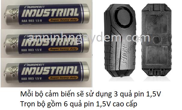 Pin bộ cảm biến chống trộm