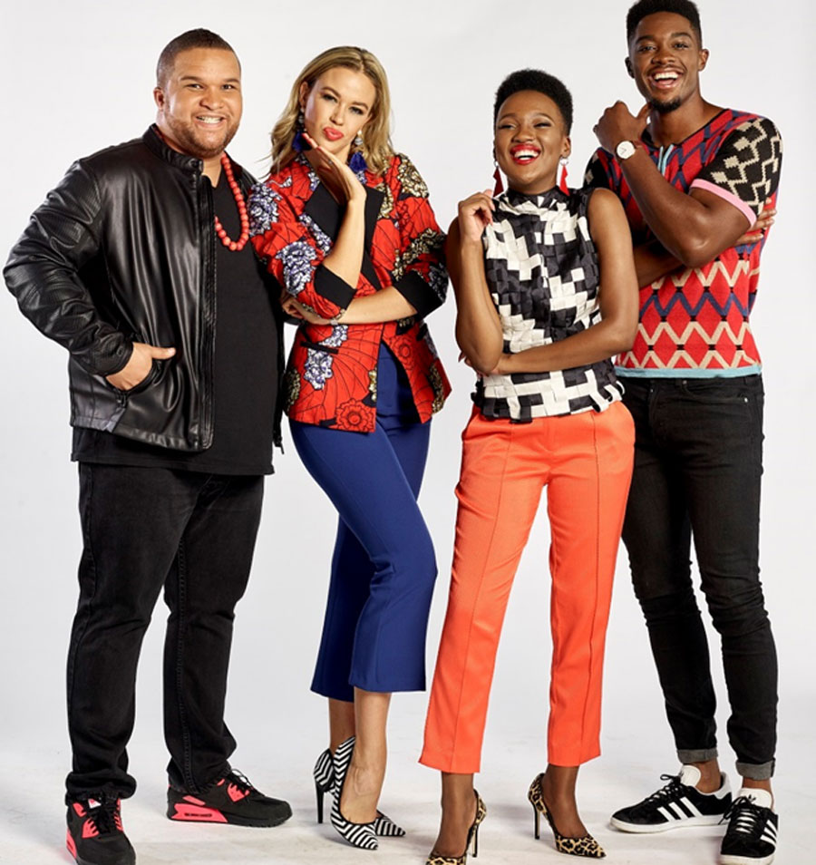 Jason Goliath, Tumelo Mothotoane, Ade' van Heerden, Michaella Russell and Tino Chinyadi