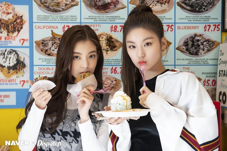 itzy yeji lia food
