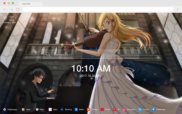 Your Lie in April HD New Tab Anime Topics