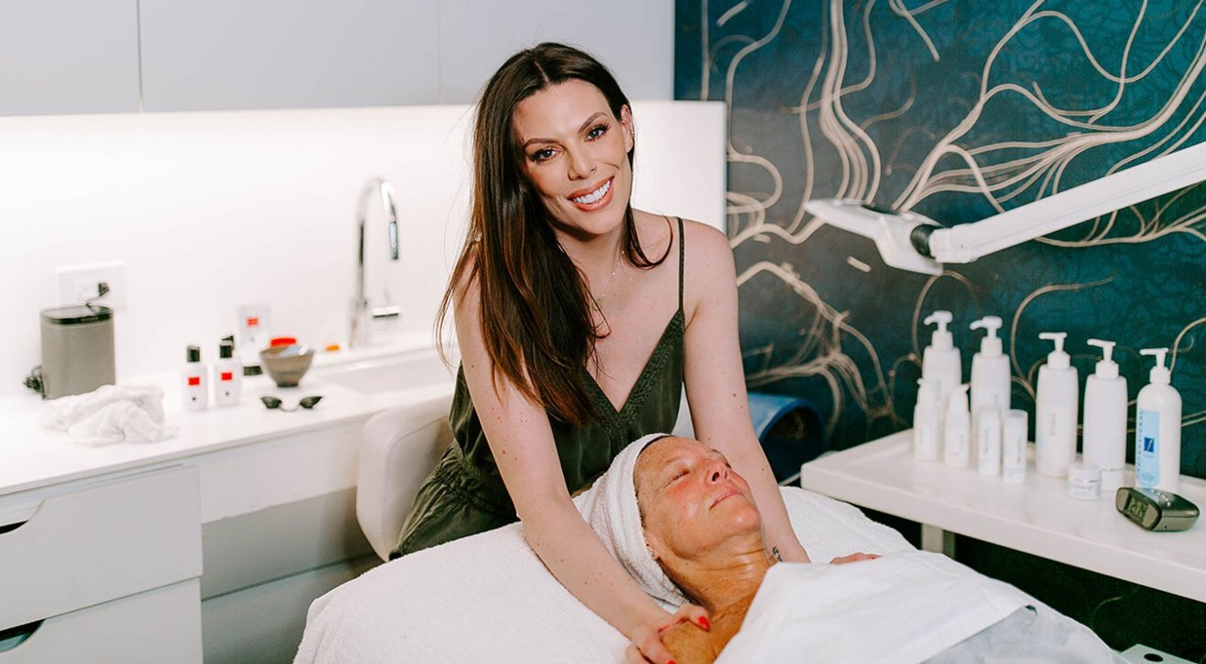 Celebrity facialist Candace Marino. Jess Rochow