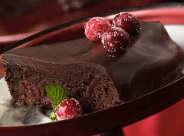 Chocolate Cranberry Fudge Cake!