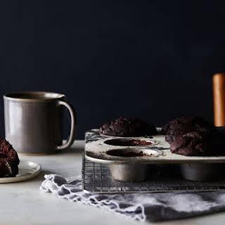 Vegan, Gluten-Free Double Chocolate Muffins.