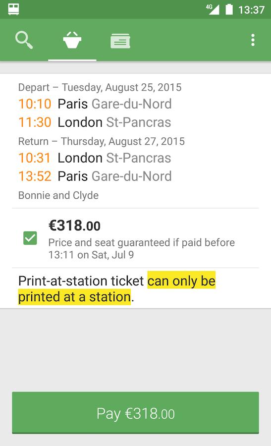 Capitaine Train: train tickets- screenshot
