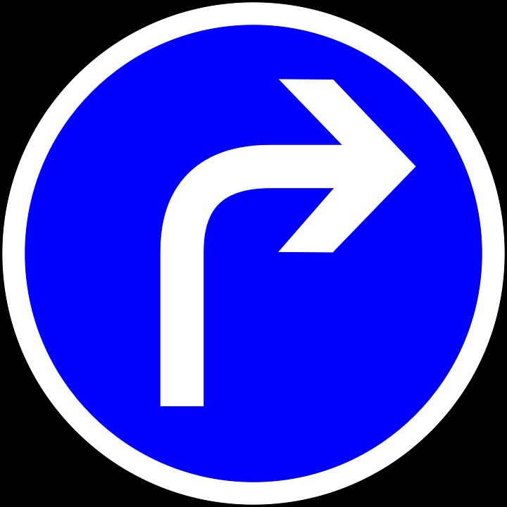 Trafik Tecken, Sväng Höger ...