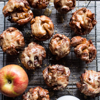 Pumpkin Spice, Maple Glazed Apple Fritters.