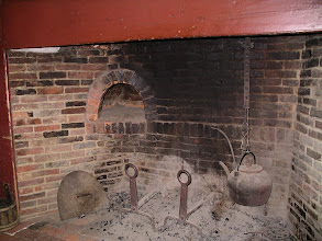 Photo: fireplace in the Fenno House kitchen