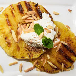 Grilled Pineapple with Ricotta.