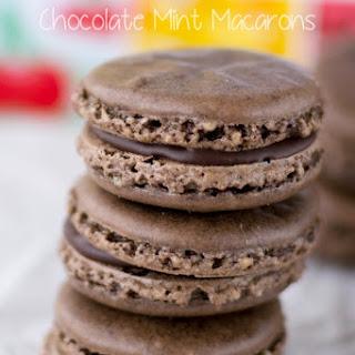 Chocolate Mint Macarons