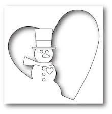 Memory Box Die - Snowman Heart Collage