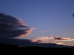 Photo: 12. July 2012, right after the sun went behind the hill