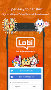 Lobi / Free game, Group chat - screenshot thumbnail
